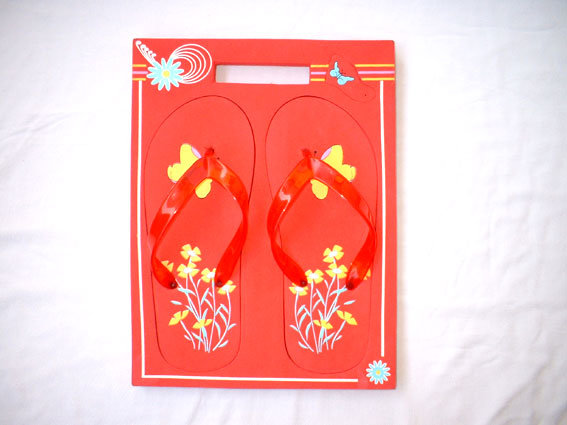 Rectangle Shape Board Flip Flop with Customer′s Logo