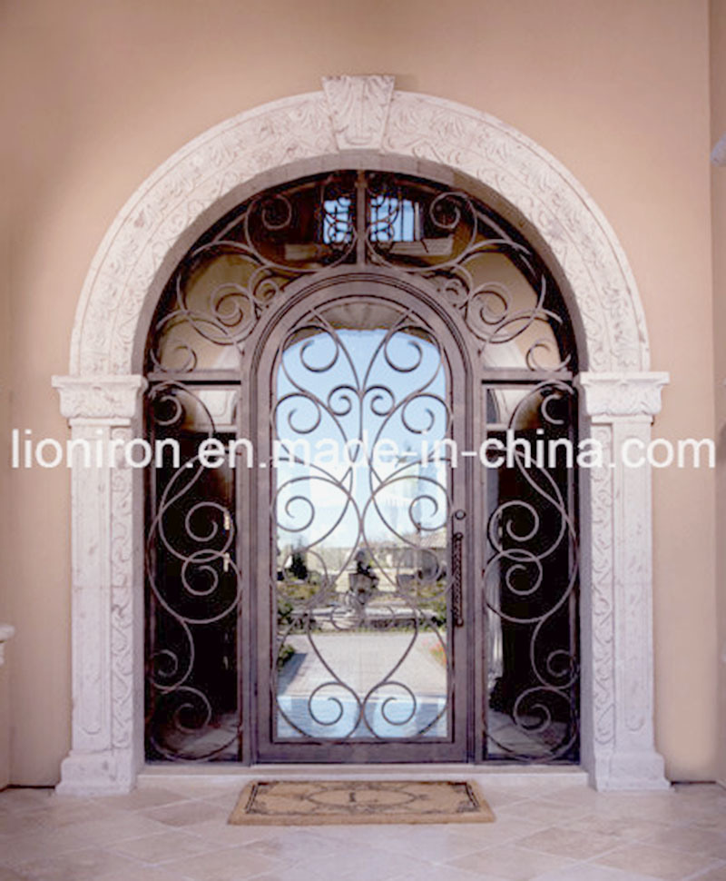Latest Design Wrought Single Main Door Interior Front Entry Door
