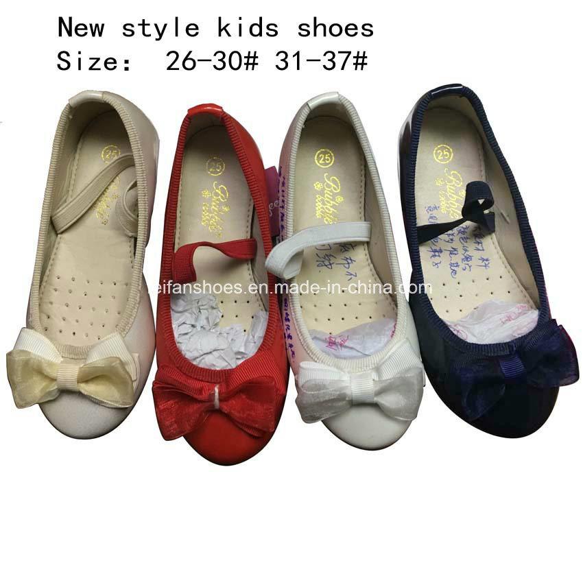 Children Fashion Sweet Bowknotballet Flat Ballerina Girl Dress Shoes (mm171)
