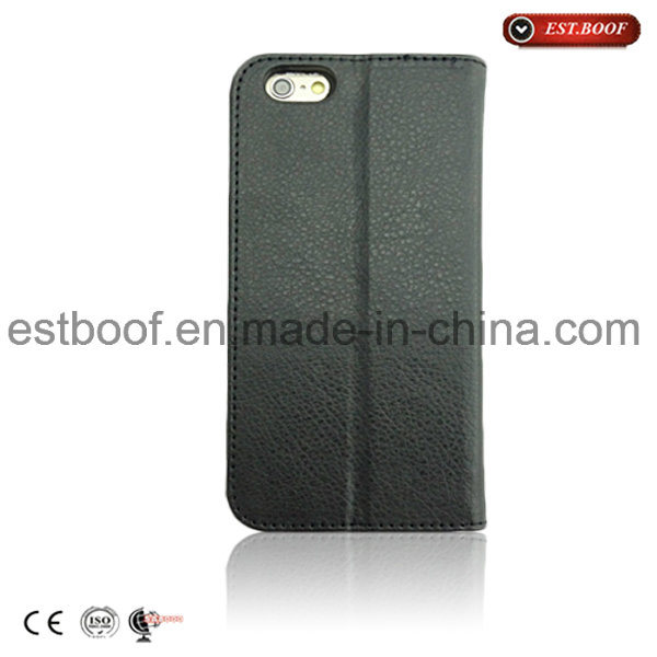 iPhone Leather Mirco Fiber Mobile Phone Case with Card Slot