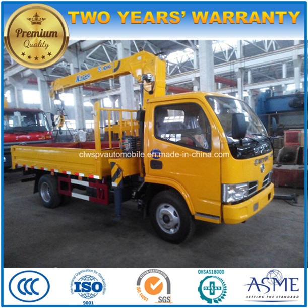 6 Wheels Truck Mounted with XCMG Crane 4t Crane Truck 5t Price