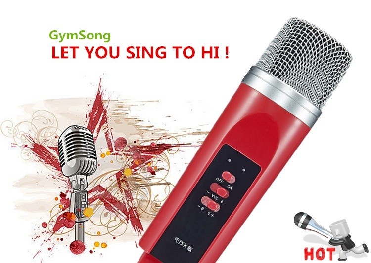 Gymsong Mobile Bluetooth Wireless Microphone Home Karaoke Microphone System