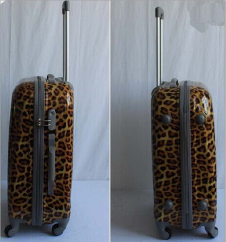 New Design Fashionable ABS / PC Leopard Printed Trolley Travel Luggage
