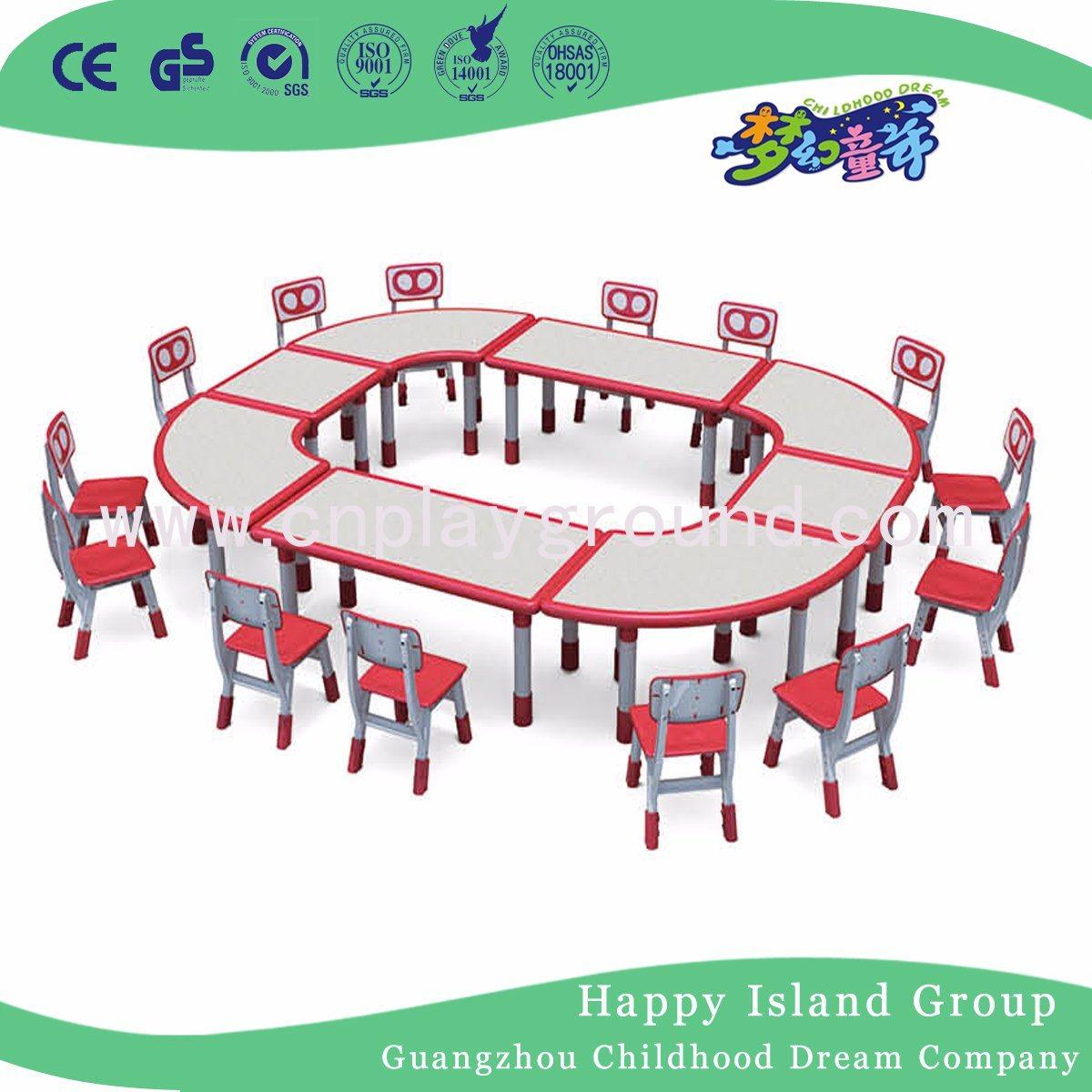 Quality Classroom Furniture Kids Furniture Kids Plastic Table Chair Set (HF-2003)