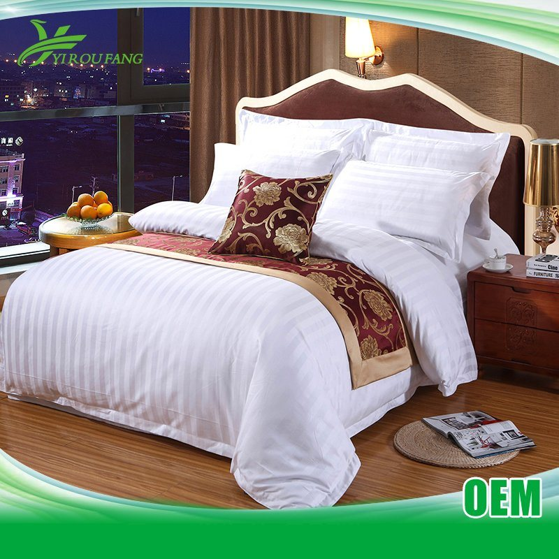 Hotel Satin Stripe Cheap 250 Thread Count Bed Linen