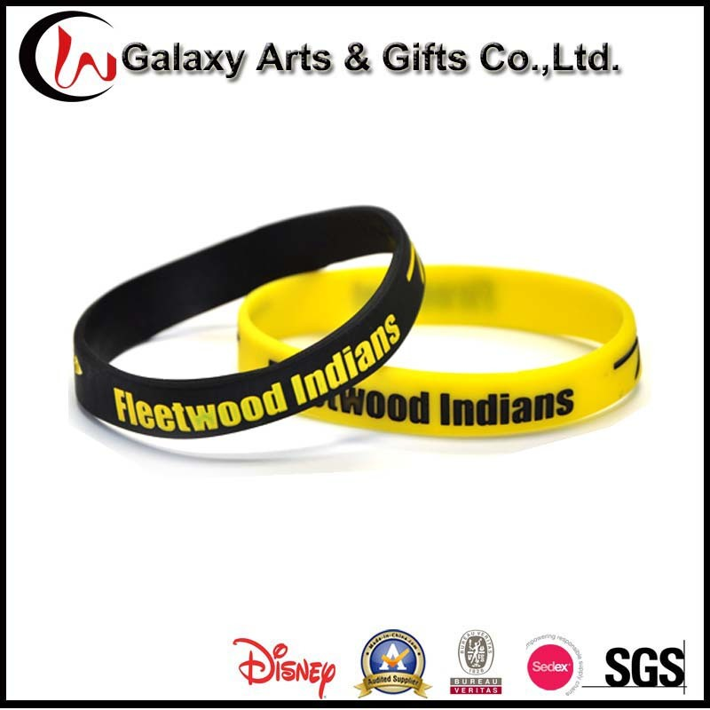 Custom Fashion Promotional Gifts Silicone Wristband Bracelet