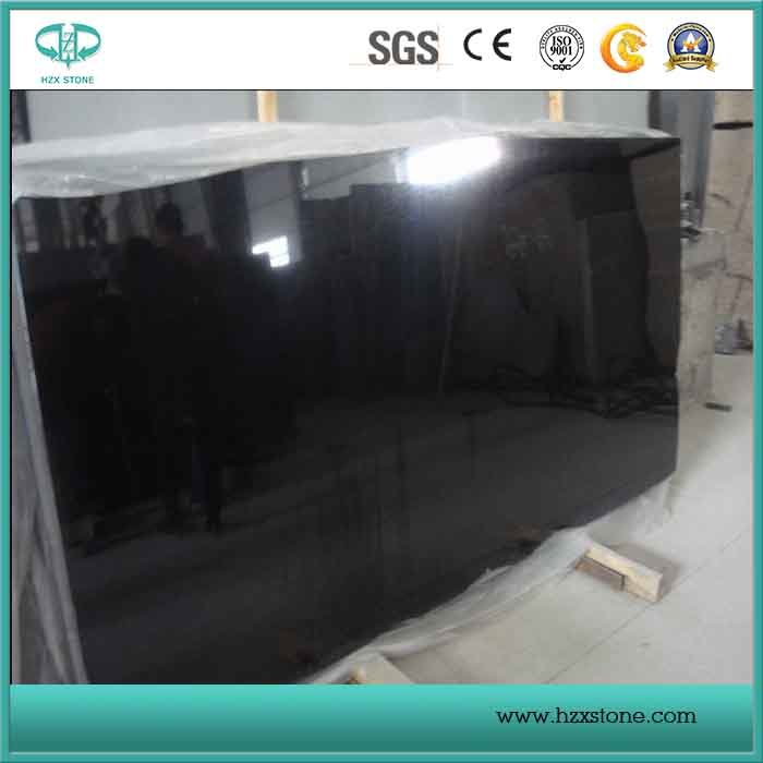 Chinese Absolute Black Granite Slab & Tile/Pure Black Granite/Shanxi Black Countertop for Decoration