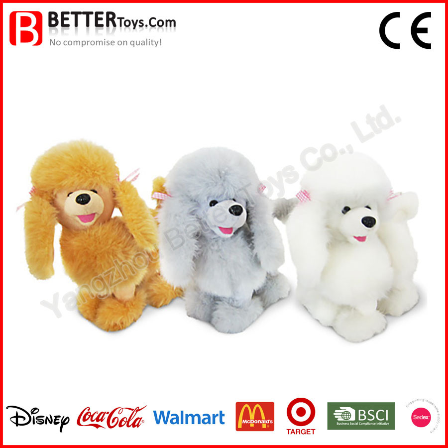 Fluffy Poodle Stuffed Soft Dog Toy for Baby/Kids