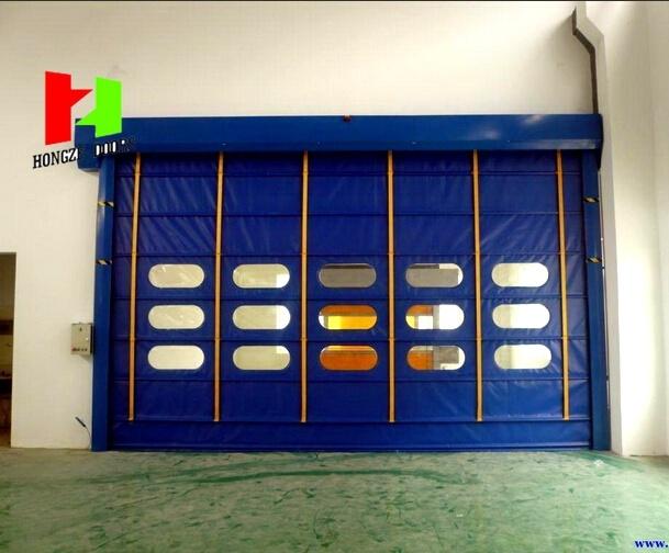 Flexible Stacking Door High Speed Steel Door Rapid Rolling Door (Hz-020)