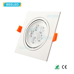 Square 5W Pure White LED Ceiling Lamp Dimmable LED Downlight