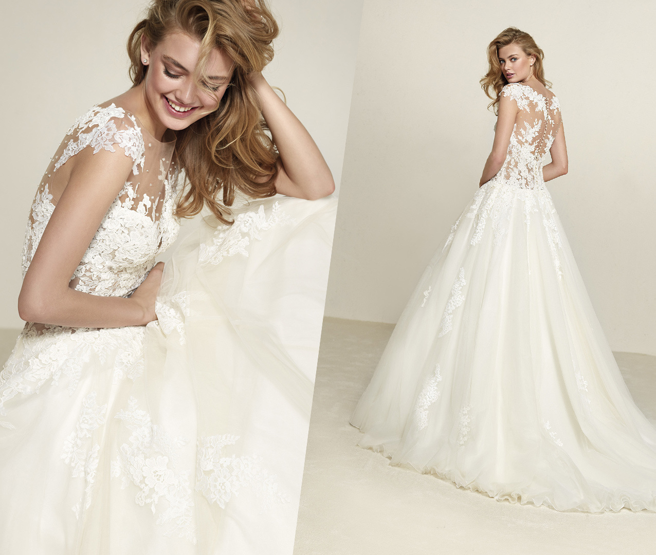 Trendy Soft and Flowing Wedding Dress