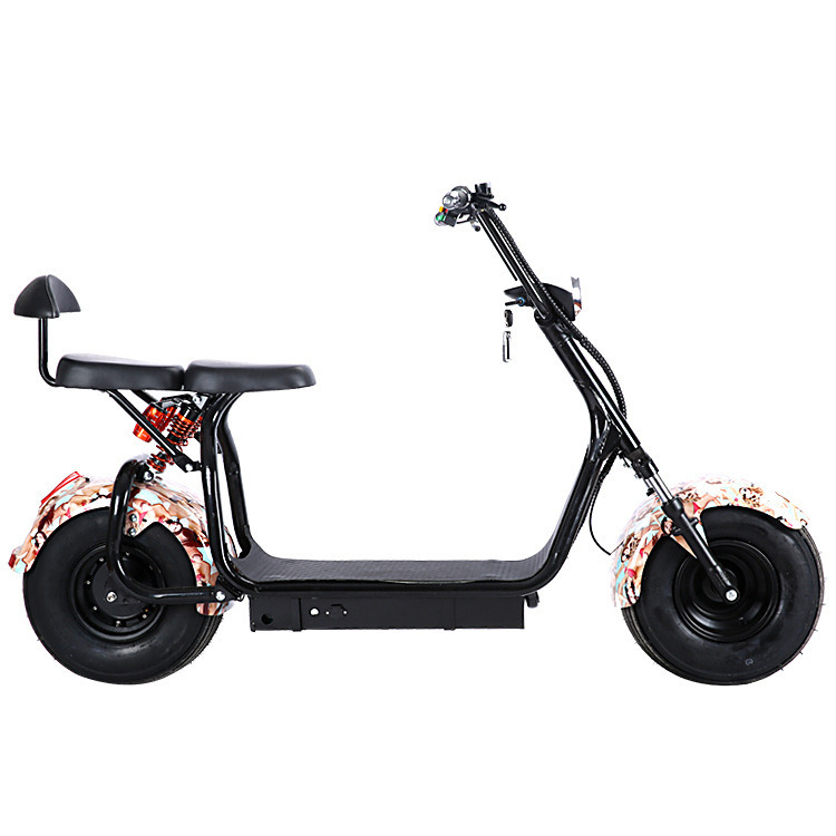 1000W Electric Mobility Scooter with F/R Shocks, 2 Seats 60V/30ah