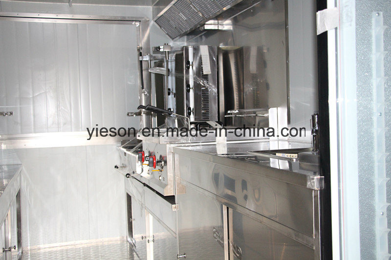 Mobile Drink Traveling Fast Double Axles Food Truck for Sale