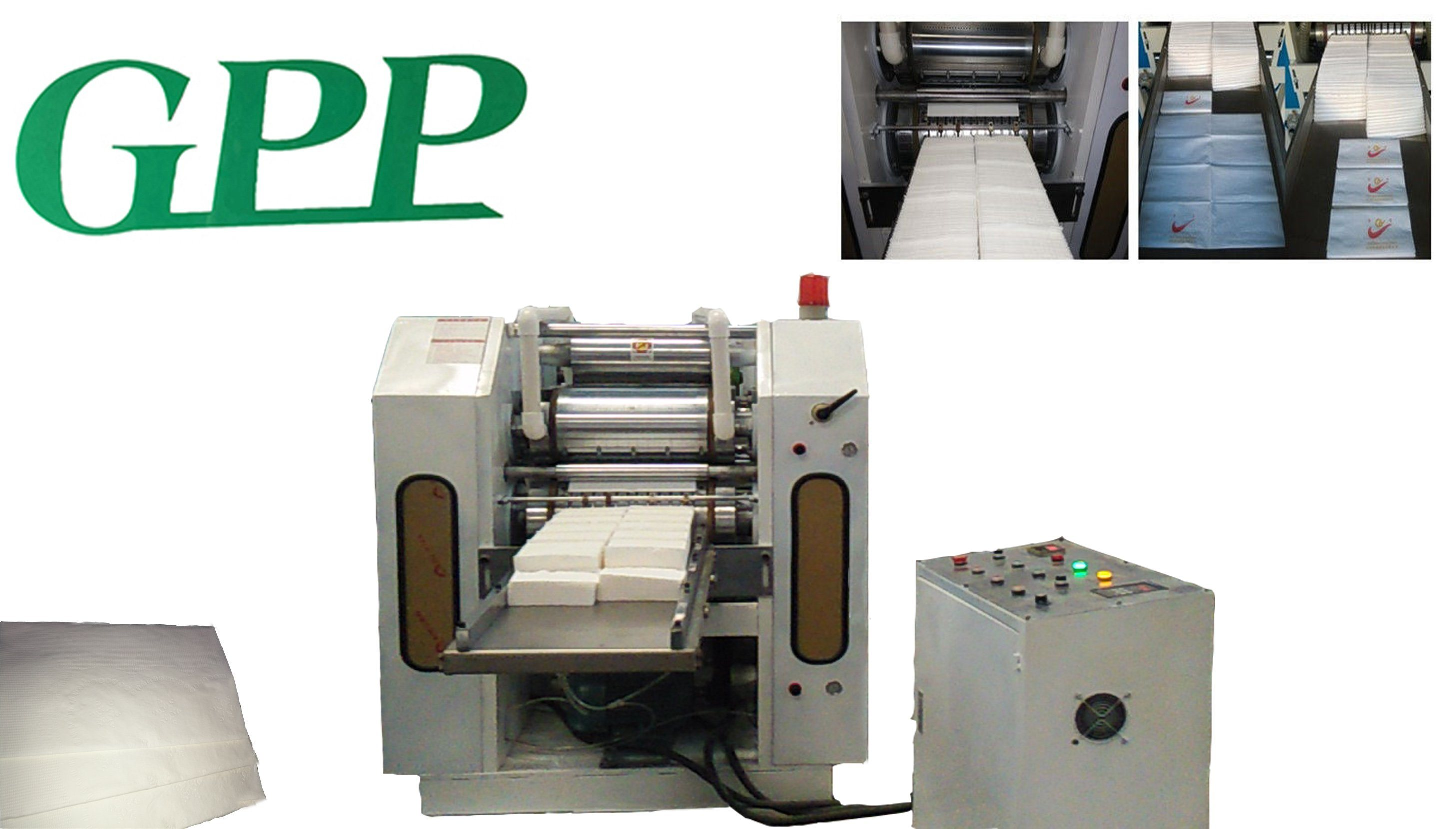 High Speed 2 Line 1/8 Folding Dinner Napkin Paper Machine