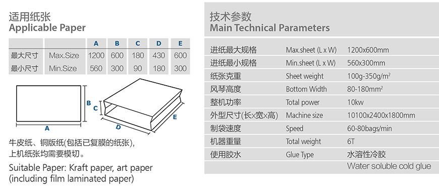 Sheet Feeding Paper Bag Tube Making Machine (Zb1200B)