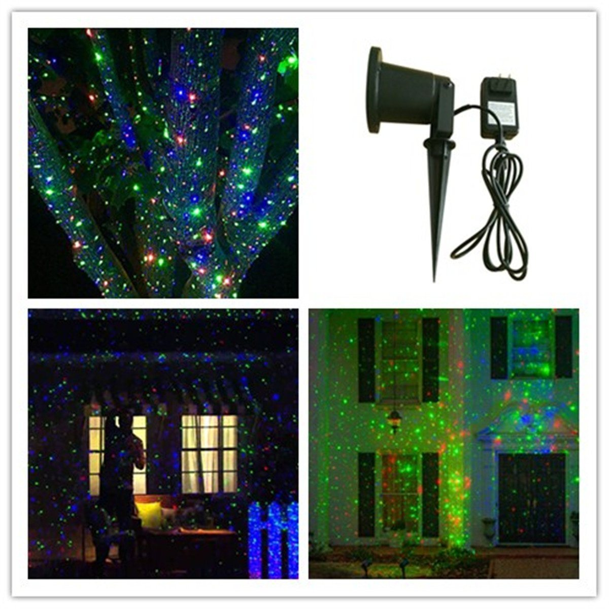 2017 China Aluminum Outdoor RGB Mini Christmas Waterproof Garden Laser Lighting