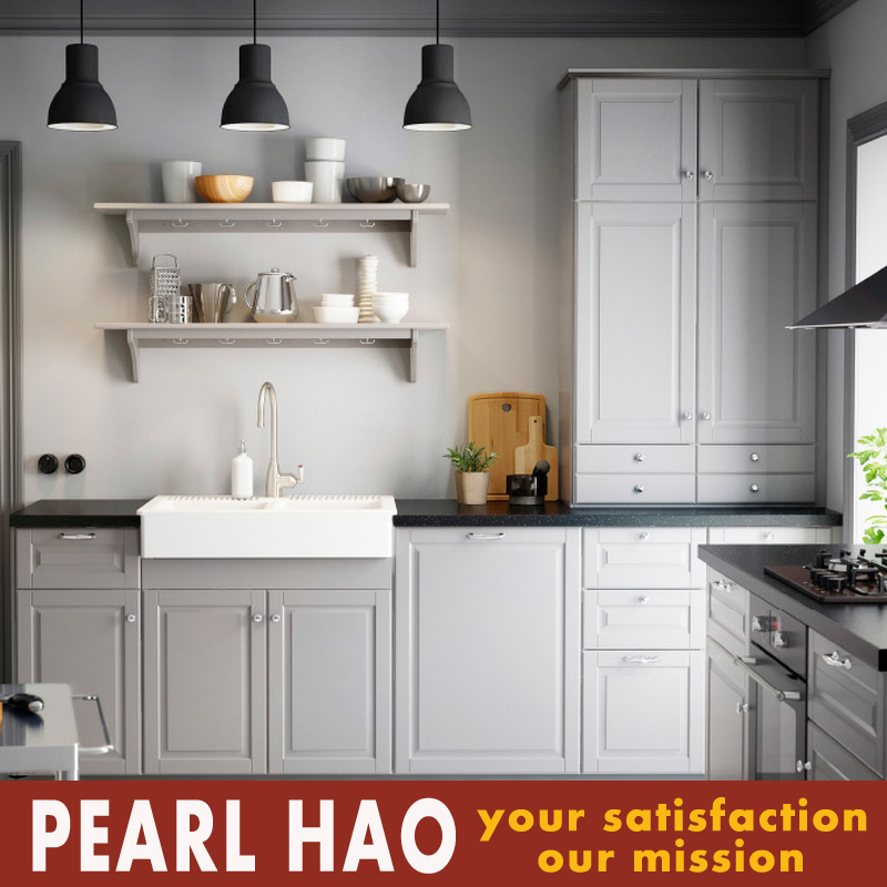 2017 Modern White Design Blister Kitchen Cabinet