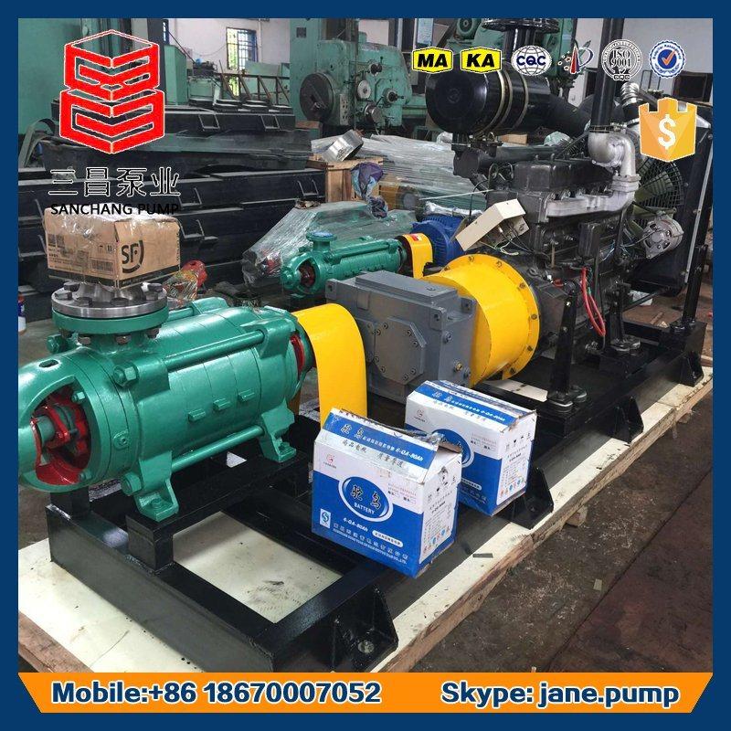 Closed Impeller Centrifugal Pump Mining Pit Diesel Engine Drive Pump