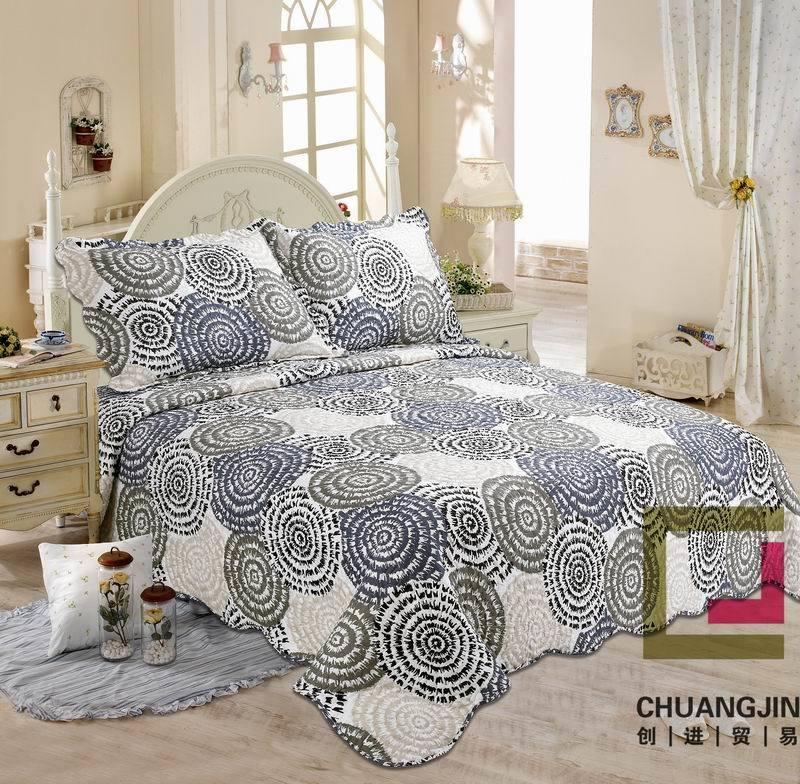 100% Microfiber Print Bedding Bedding Set (Quilt)