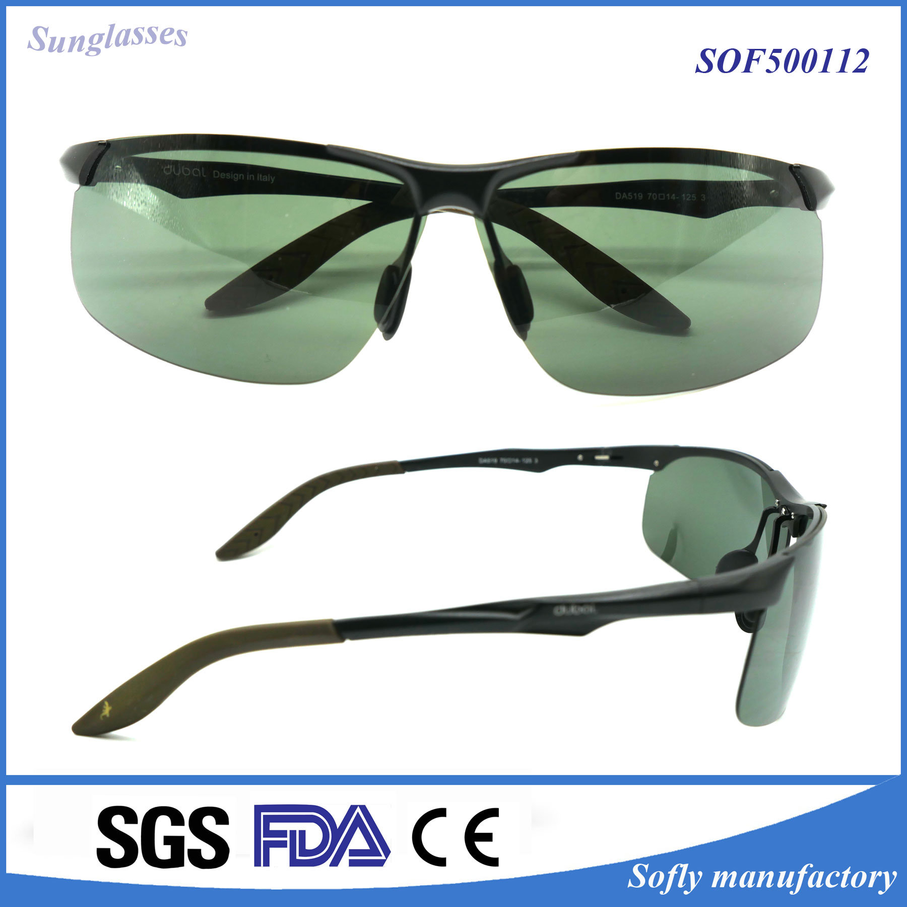 Metal Eyeglasses Frame UV400 Cycling Sunglasses for Men