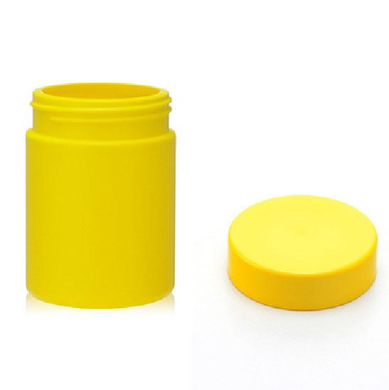 Yellow UV Glossy Protien Powder Plastic Bottle