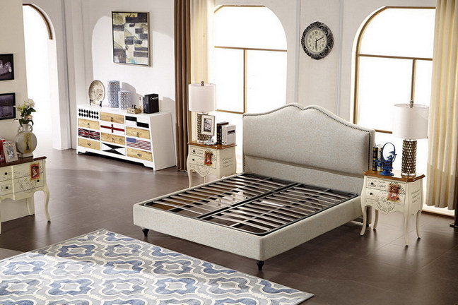 Modern Bedroom Furniture Set Cheap King Size Soft Fabric Bed