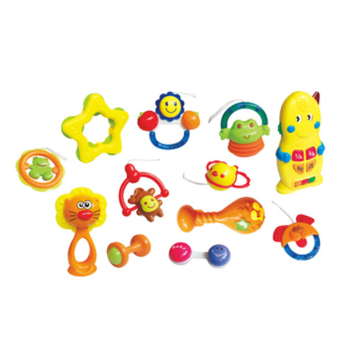 Plastic 12PCS Baby Bell Set Baby Rattle (H0001181)