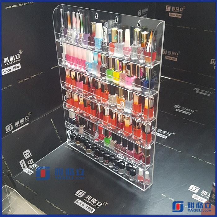 Clear Acrylic Nail Polish Salon Wall Display Storage Rack