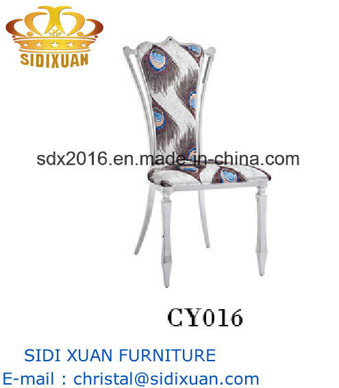 Special Fabric Stainless Steel Frame Dining Chair for Living Room