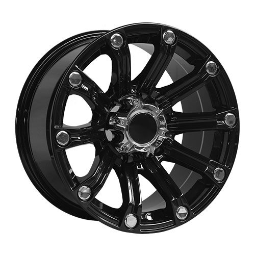 Ten Spokes with Big Rivets Alloy Wheels