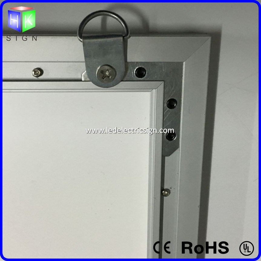 UL Power Adaptor Photo Frame for Menu Board Fast Food Restaurant Equipment