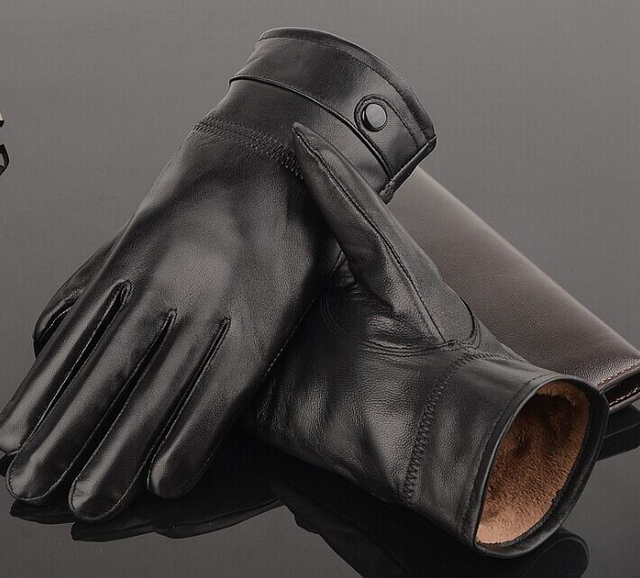 Sheep Leather Glove/Warm Men Gloves