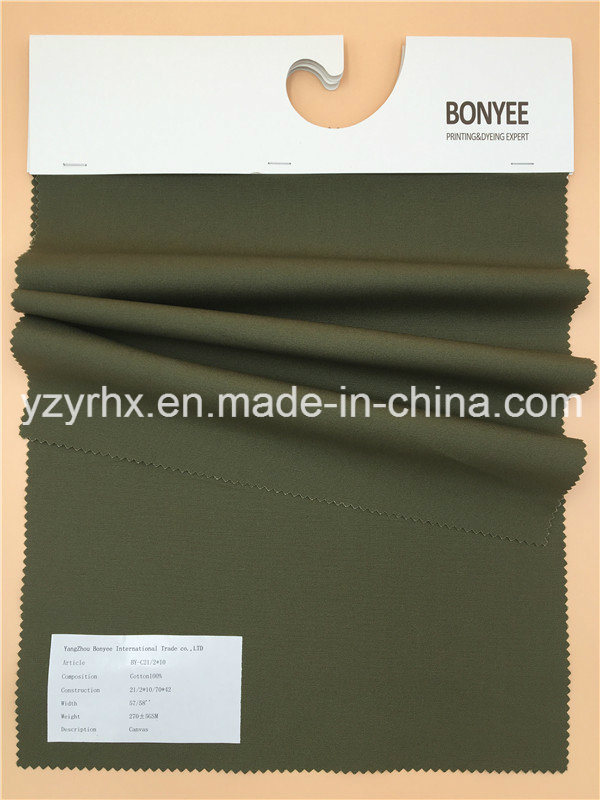 Finished Fabric 100% Cotton Canvas Printed Army Green