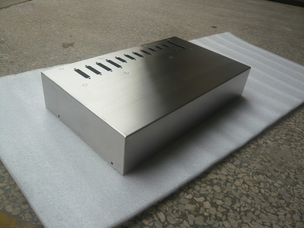 Polished Metal Box, Power Shell, Laser Cutting Spare Part