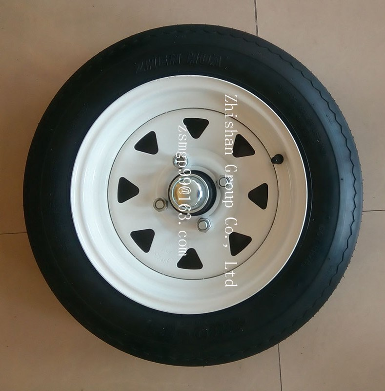 4.80-12 Tubeless Pneumatic Rubber Wheel