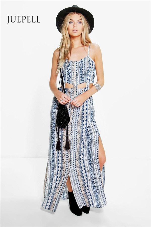 Crochet Lace Trim Skater Women Dress