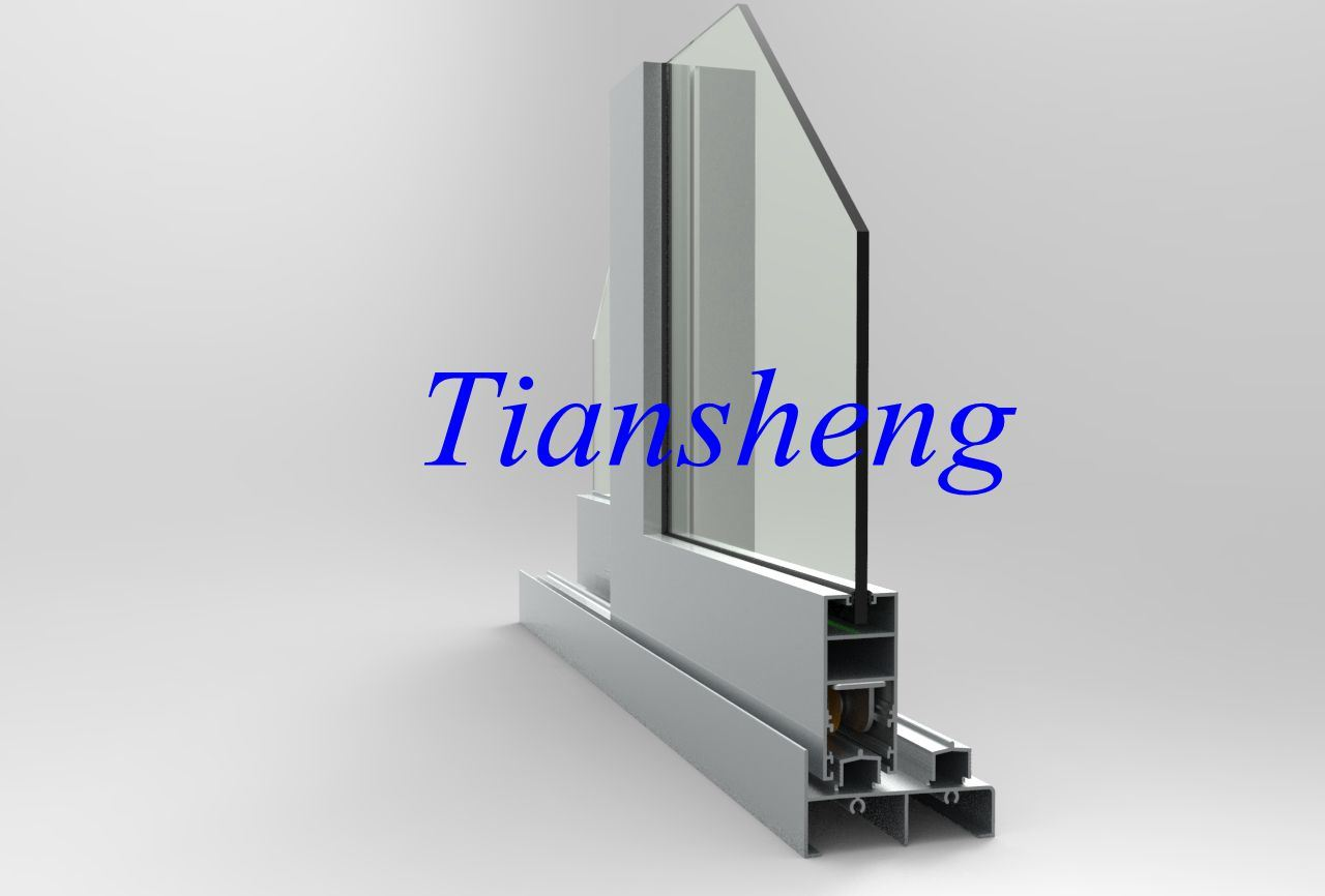 Heavy Duty Grey Double Glazed Aluminium Sliding Window