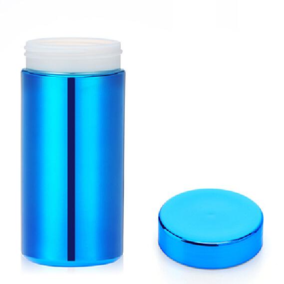 13oz Silver HDPE Chrome/Metallized Protein Plastic Bottle