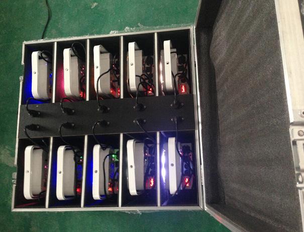 9X15W Battery Wireless Rgbaw Stage Light for Wedding Party