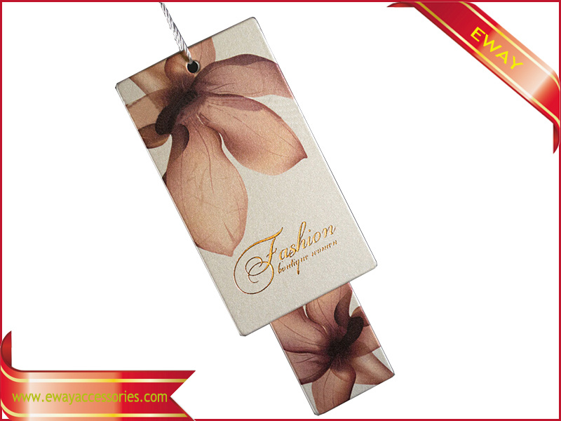 OEM Logo Printed Garment Paper Price Hang Tag