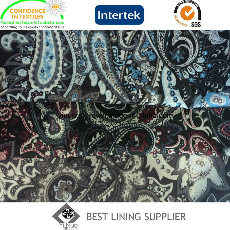 100% Polyester 290t Tafffeta Printed Lining Fabric Jacket Suit Lining