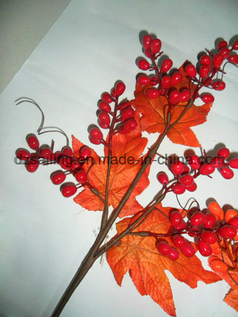 Autumn Coloration Berry Artificial Flower for Home Decoration (SHL15-G002)