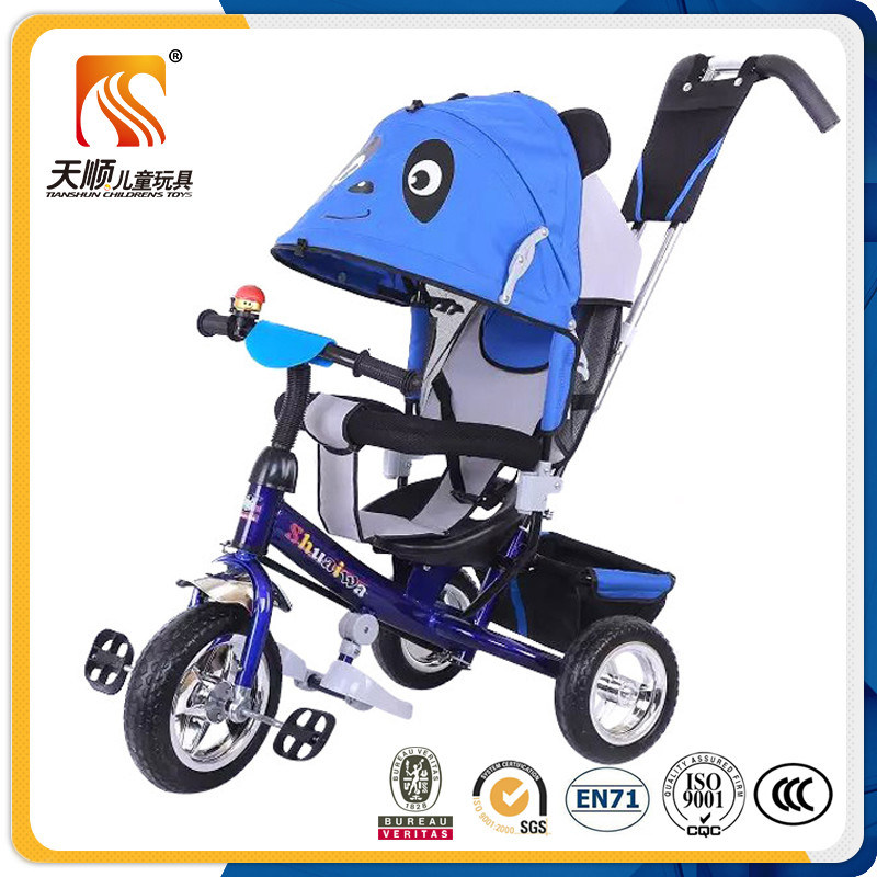 Ride on Power and Push Power OEM Custom Made Children Tricycle with Push Bar