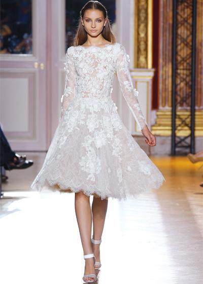 New full long sleeves cream white lace wedding dress custom