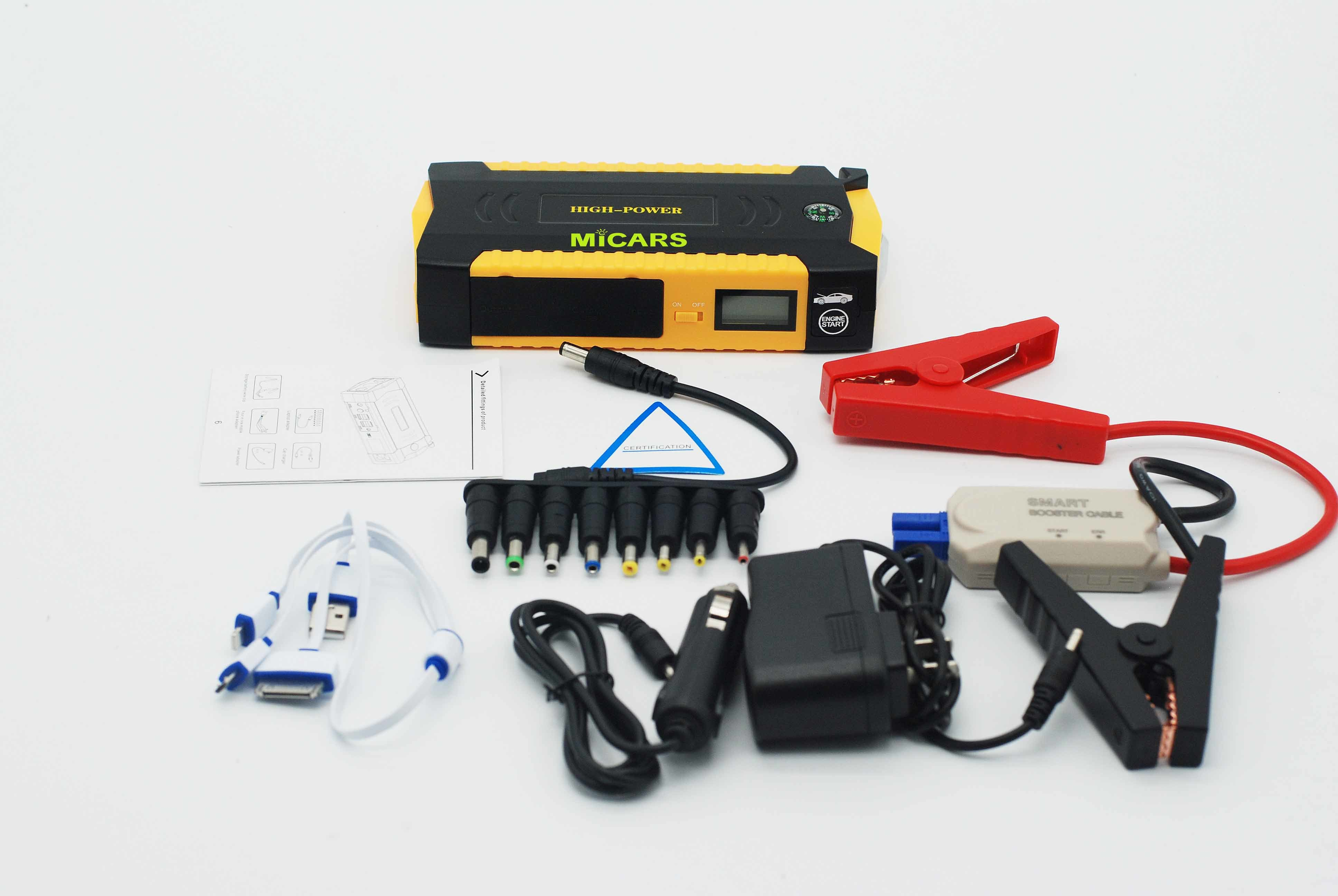 2017 New Upgrade High Power 20800mAh 5.0L Gasoline& 3.0L Diesel Oil Battery Car Jump Starter