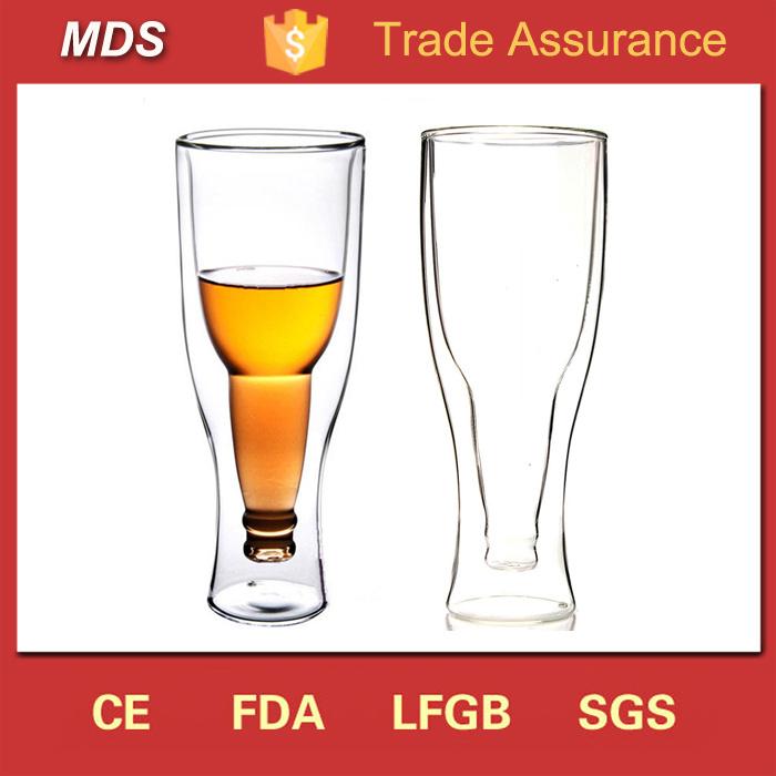 Manufacturers Double Wall Beer Borosilicate Freezer Mug Glass