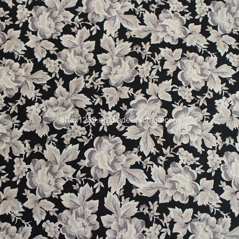 100%Cotton Poplin Fabric with Printed (40X40/133X72) for Shirting Use