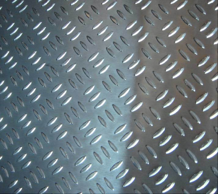 A1100/3003/3105 Aluminium Tread Plate Bright 5bar