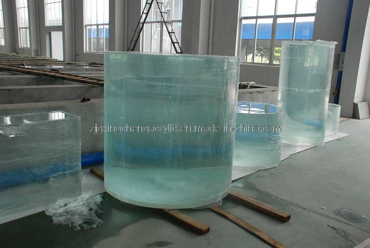 China large cylindrical fisht tank fish aquarium photos for Cylindrical fish tank