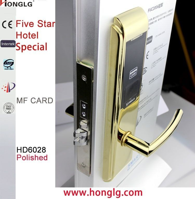 Computer Controlled System Smart Hotel Key Card Lock (HD6028)